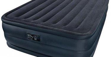 Großaufnahme von einem Intex Luftbett Raised Downy Blue Queen